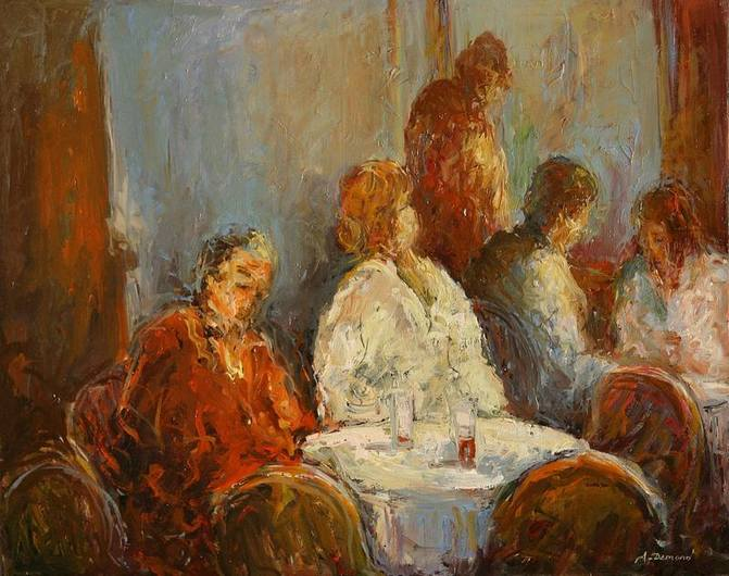 Peinture contemporaine - Autour de la table ...